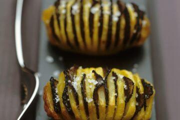 Patate al forno con tartufo nero pregiato